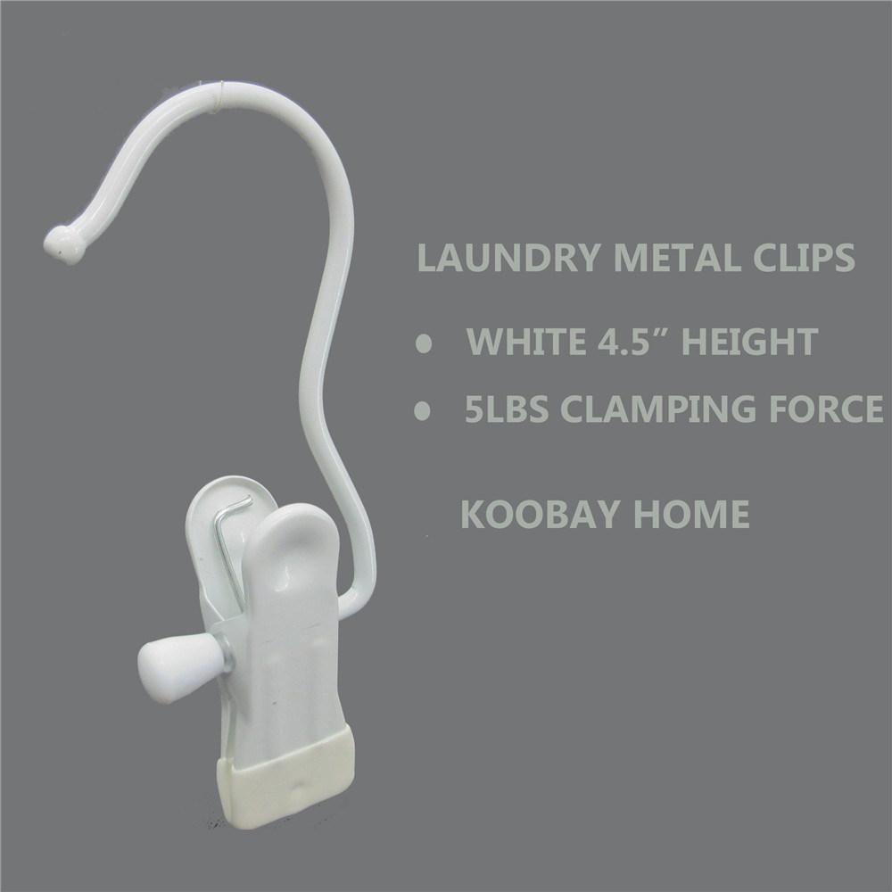 White Metal White Non Slip Clip Clothes Hanger, Clips Hanger for Boots, Pants