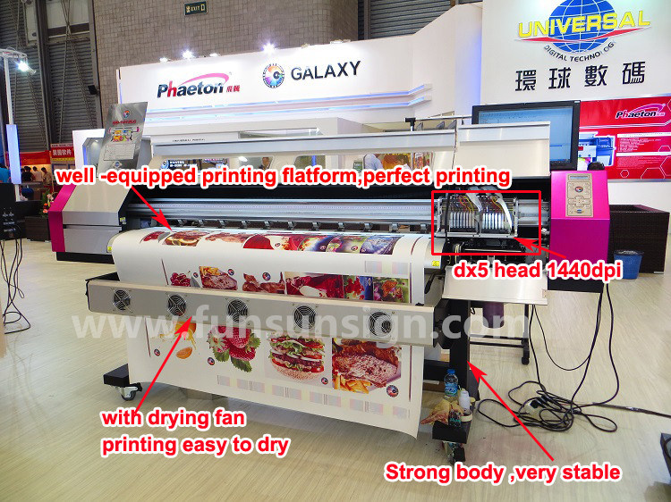 High Quality 1440dpi Galaxy Ud181LC Eco Solvent Printer with Dx5 Head