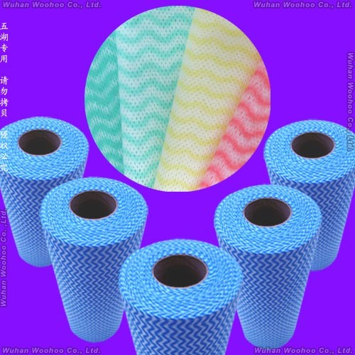 Super Absorbent Multi-Purpose Household & Kitchen Spunlace Nonwoven Wiping Cloth
