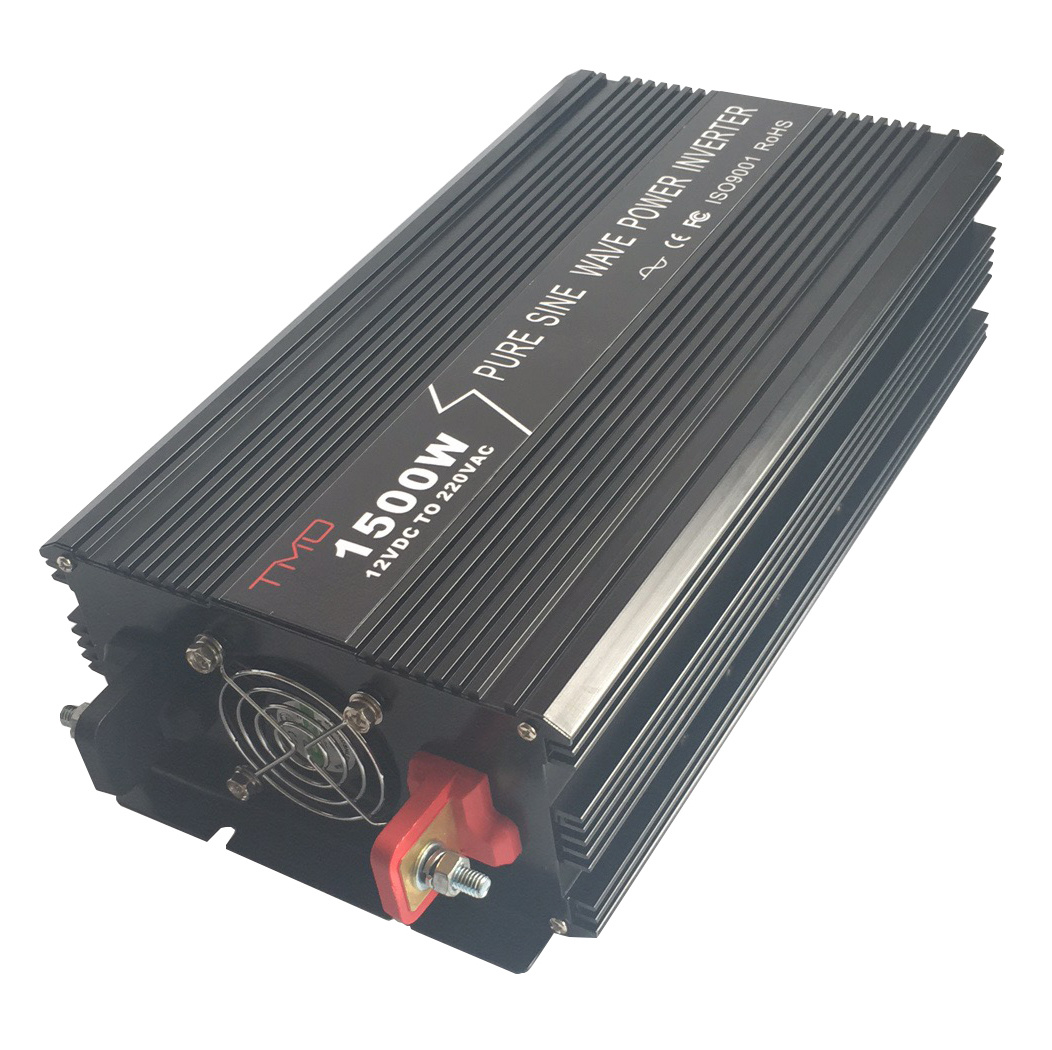 Electric 12V 220V Pure Sine Wave 1500W Solar Panel DC to AC 1.5kw Power Inverter