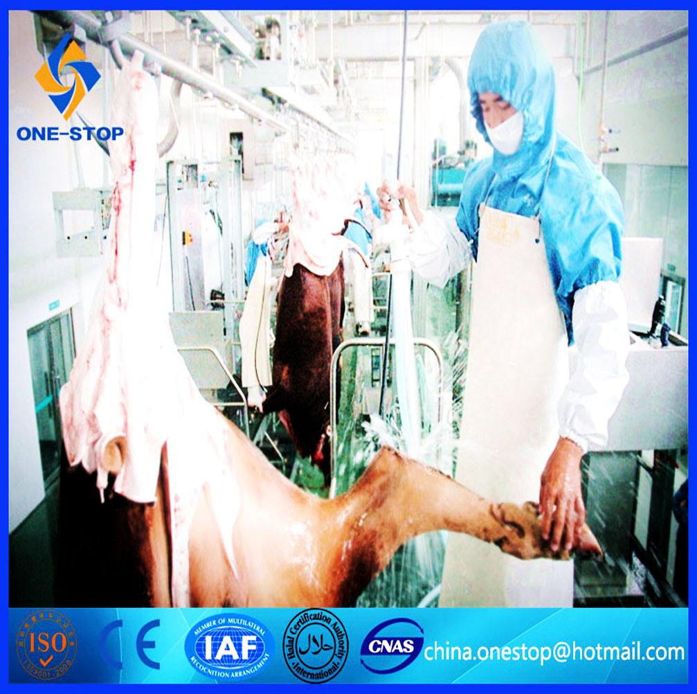 Livestock Abattoir Line Cattle Slaughter Line Halal Sheep Slaughterhouse Machine