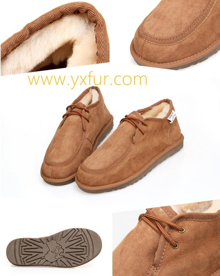 Double Face Sheepskin Shoes Leisure Shoes for Men and Women