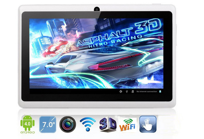 "Android Tablet 7"" Google Android 4.0 4GB Tablet PC A13 Q88 Multi Touch"