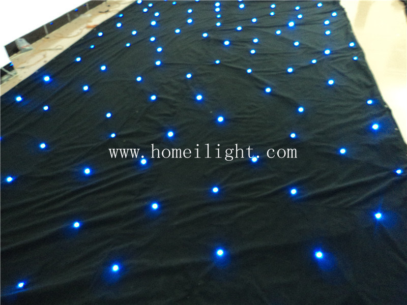 Colorful 3*8m RGB Tricolor Star Curtain with CE for Stage Performance and Party