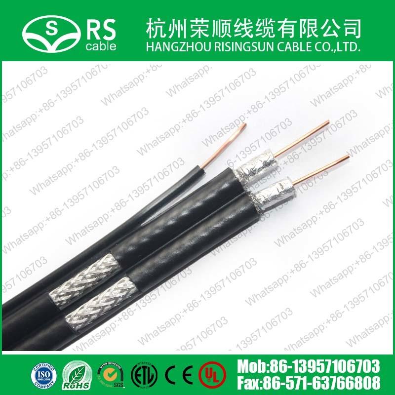 RG6 Dual Cable Messenge 75ohm CATV ETL/UL Cm Approved