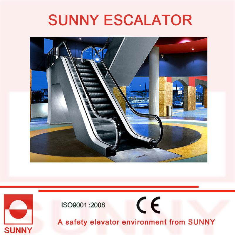 Indoor Escalator with Aluminum Alloy Comb Board and Rubber Handrails, Sn-Es-ID065