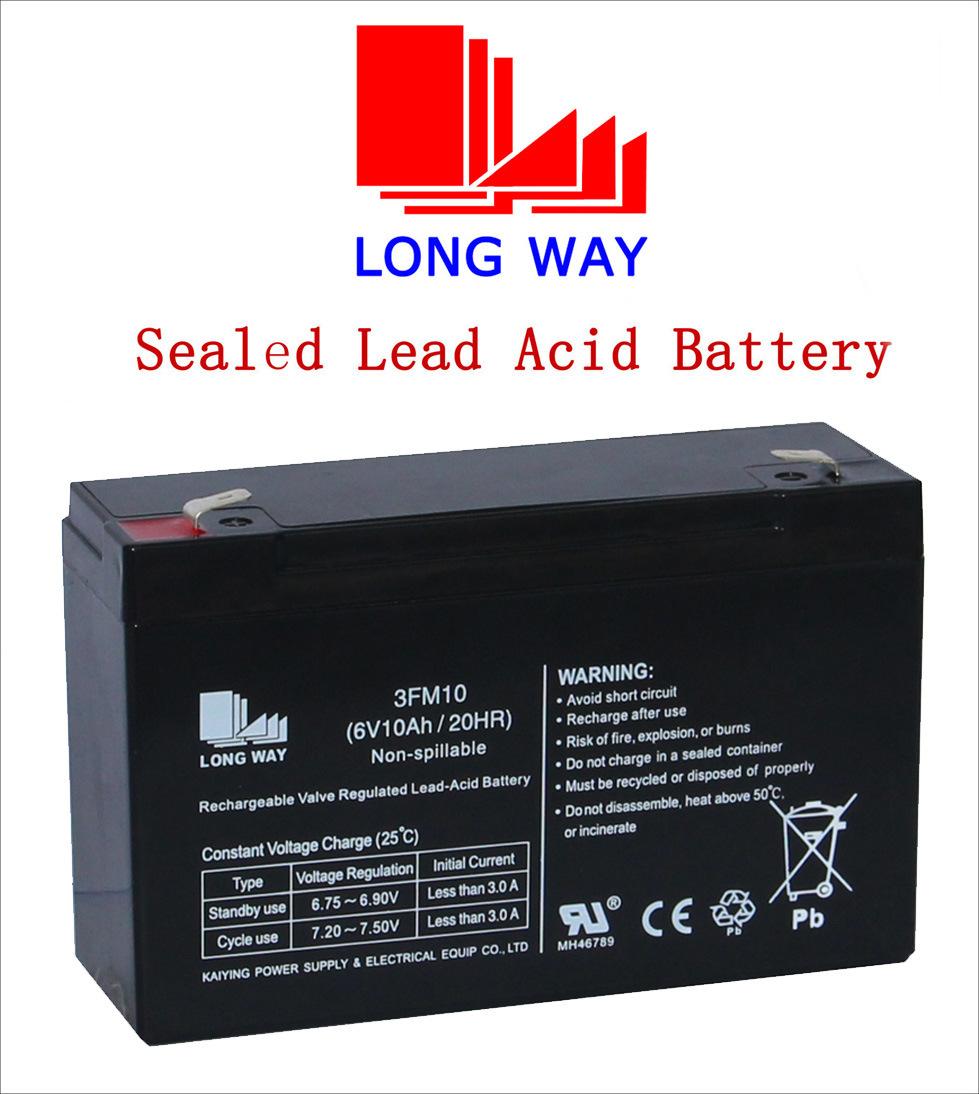 Power Toys UPS Sealed Lead Acid Battery 6V10ah
