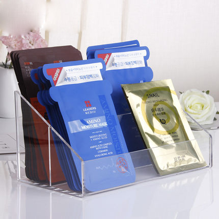 Popular Facial Mask Acrylic Cosmetic Display for Show Case