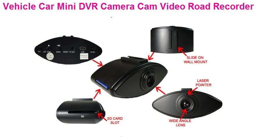 China Car Motion Detect, Car Drive Cam System, IR Vehicle
