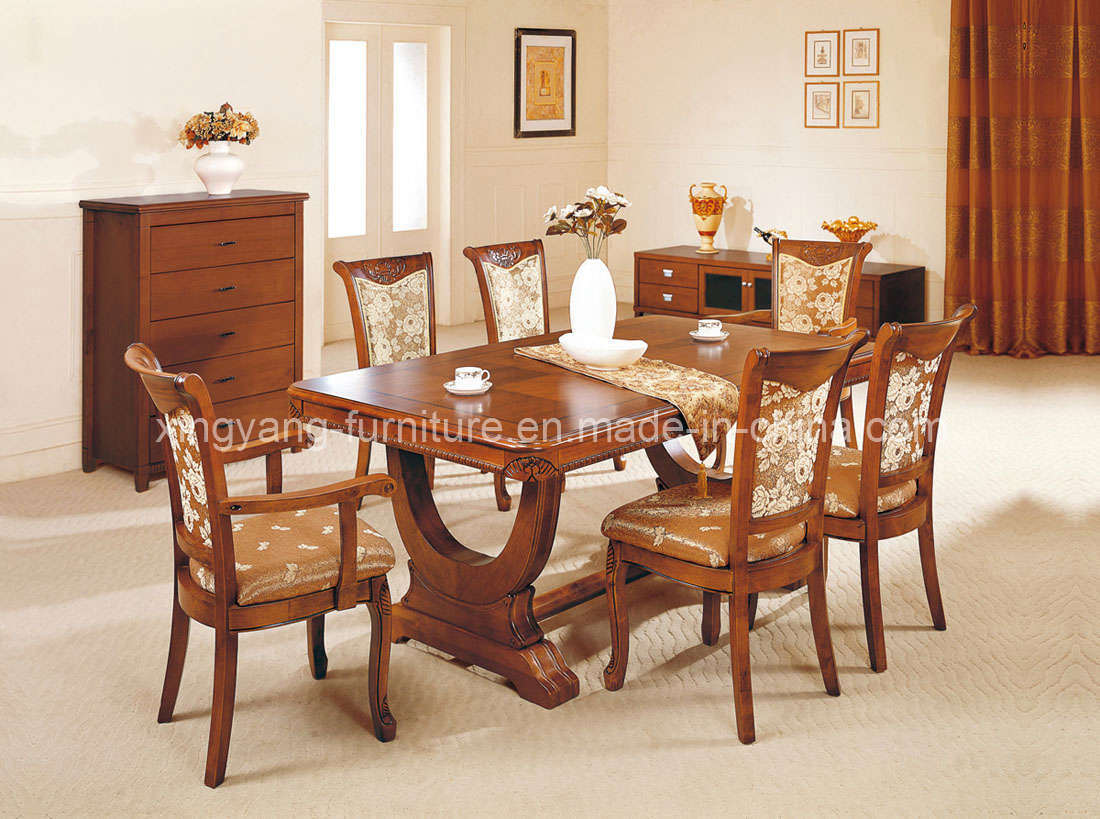 China dining room furniture wooden furniture a89 for Wooden dining table and chairs