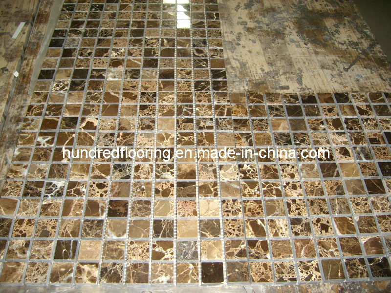 Dark Emperador Marble Mosaic Tile (HSM120)