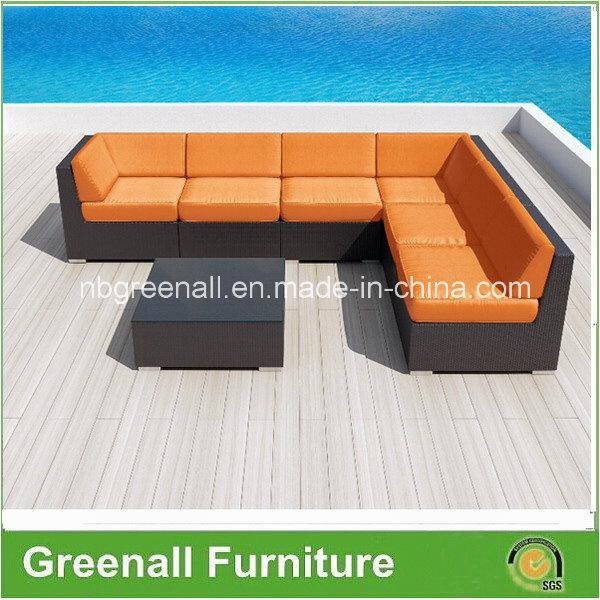 New Design 7PCS Rattan Sectional Sofa Set Outdoor Furniture