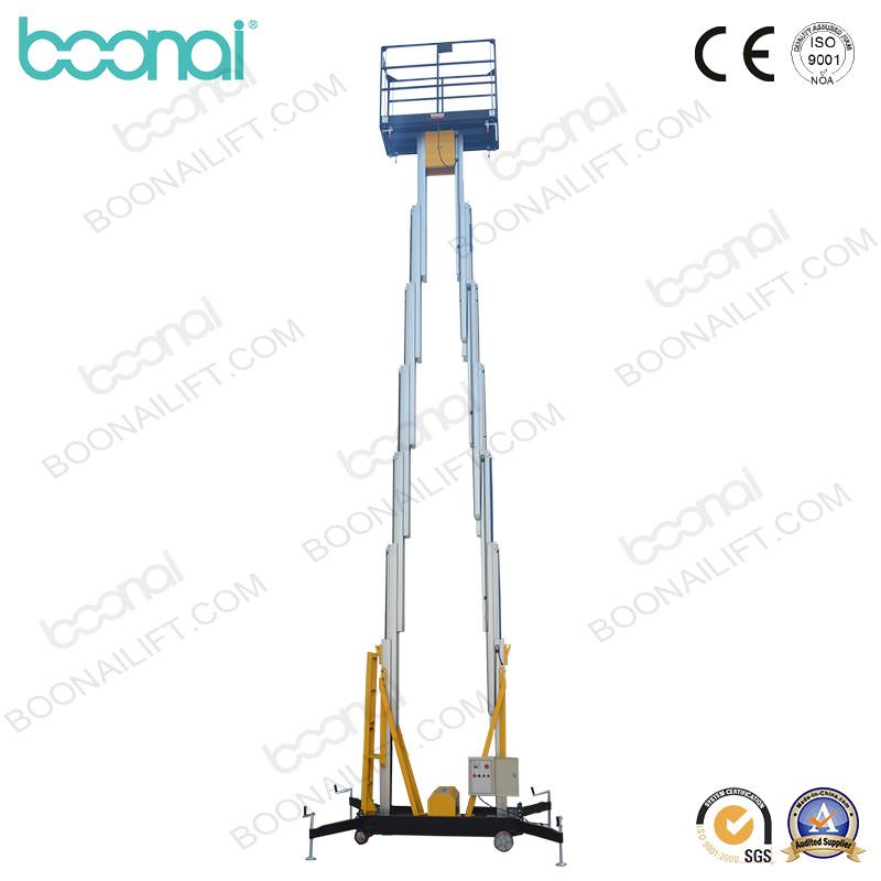 Dual Masts Aluminum Aerial Work Platform (Max Height 10m)