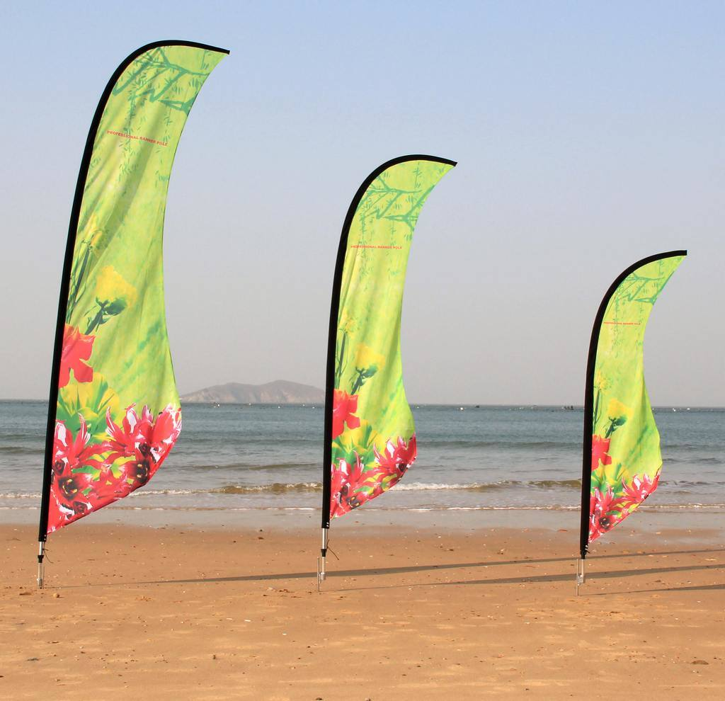 Beach Flag Flying-Banner-Beach-Flag