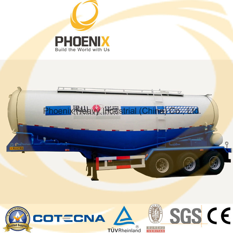 Professional Supplier 45m3 Bulk Cement Semitrailer with Fuwa Axle