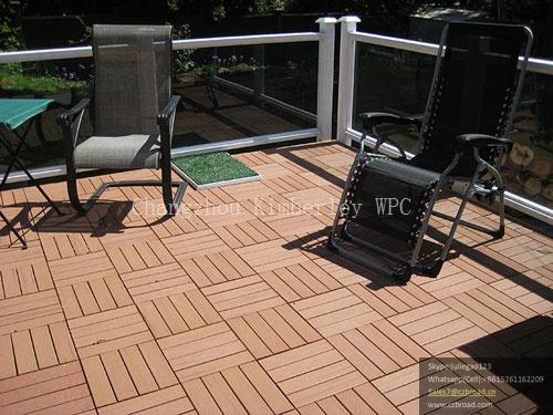 WPC Wood Grain DIY Floor/Laminated Decking Floor