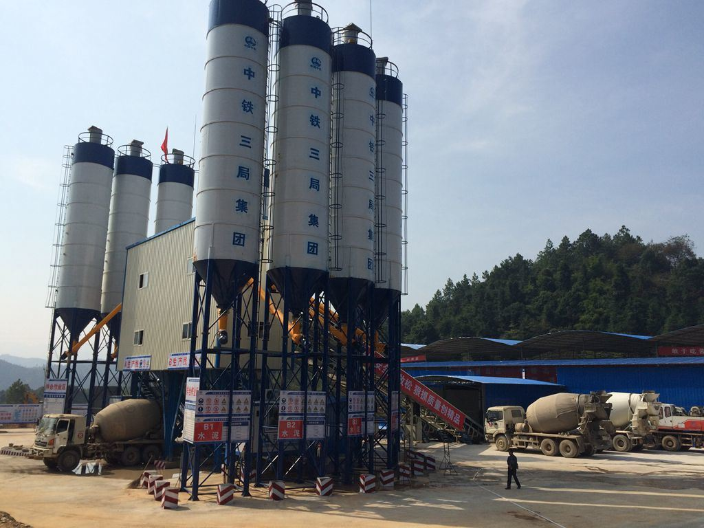 60m3/H Capacity Central Readymix Concrete Batching Plant with Belt Conveyor