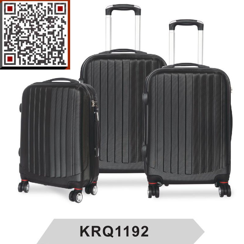 ABS 3PCS Hard Shell Travel Trolley Luggage Bag