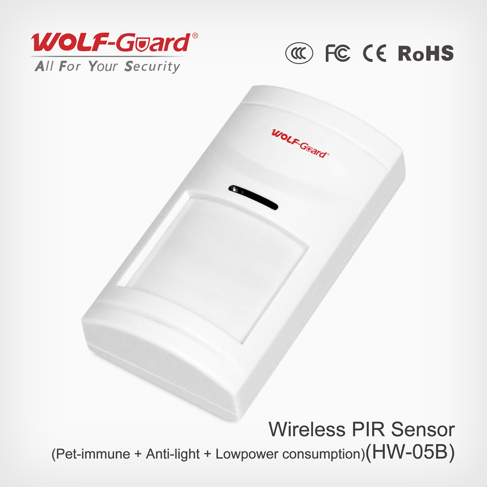 Pet Immunity Wired Wide Angle PIR Motion Sensor, Intrusion Alarm Homsecur Intruder Burglar Alarm