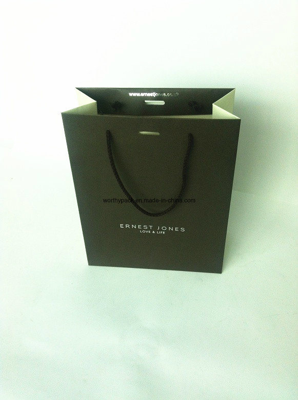 Paper Apparel Bag with Handle and Custom Design