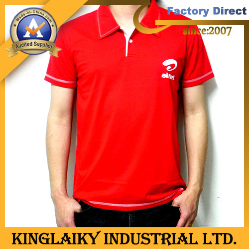 100% Cotton Polo T-Shirt with Logo for Promotion (KT-001A)