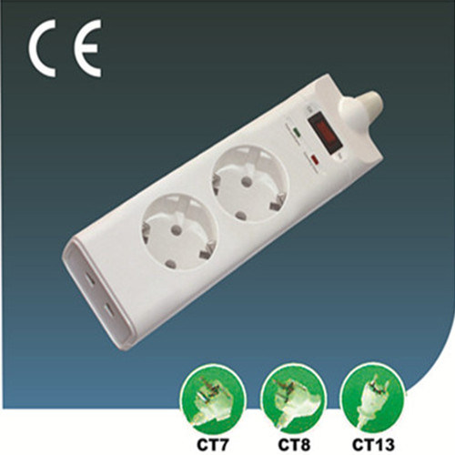 EU Integral Plug with Outlet Extension Switch Socket