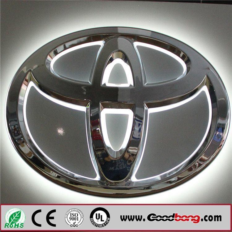 Customed High Quality Vacuum Acrylic LED Backlit Car Logo / Car Emblems
