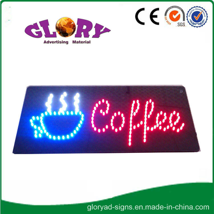 High Brightness Epoxy Resin Nail Sign LED Open Sign