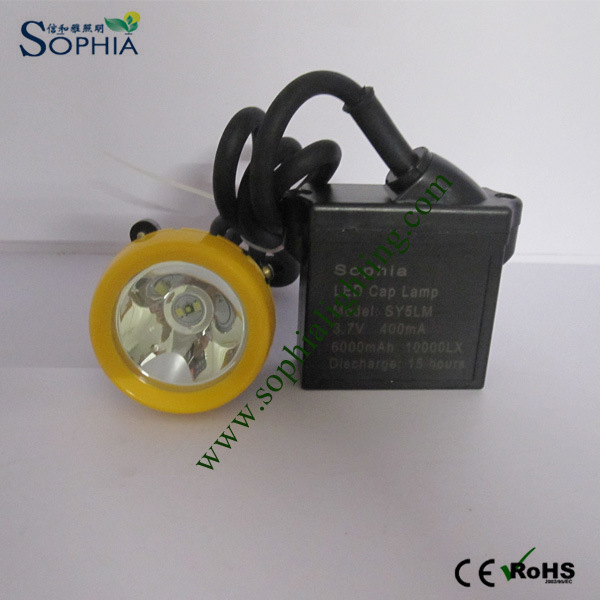 6600mAh New LED Headlamp, LED Headlight with Lithium Battery