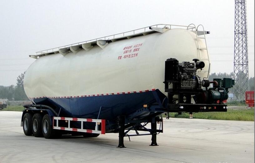 Bulk Cement Powder Material Tanker Semi Trailer