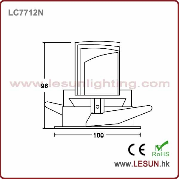 High Lumen 8W Cut Hole 90mm LED COB Down Lighting LC7710n