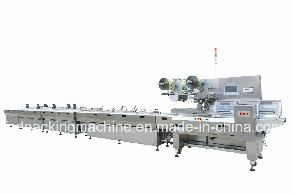 Automatic Chocolate Alignment&Flow Wrapping Machine with CE (FND-F3000)