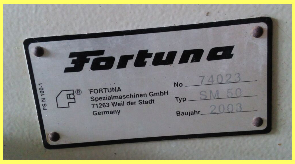 Used Germany Fortuna Small Leather Skiving Machine (SM50)