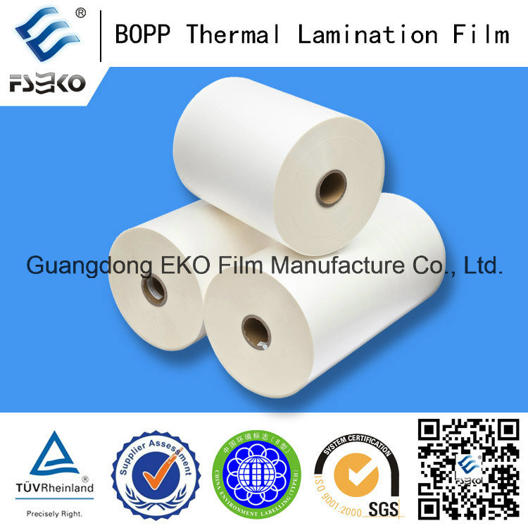 18mic Jumbo Roll BOPP Thermal Lamination Film for Printing Fatory