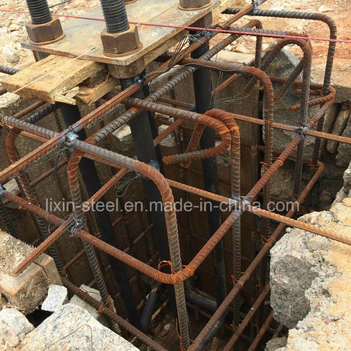 Building Frame Bolt : China steel structure foundation with anchor bolt and