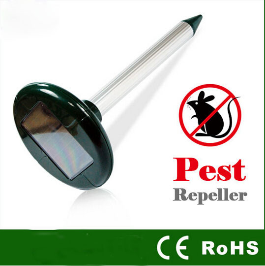 Outdoor Guard-Solar Powered Mole Repeller (Mice /Mouse/ Rat / Snake /frog Rodent) Pest Repeller