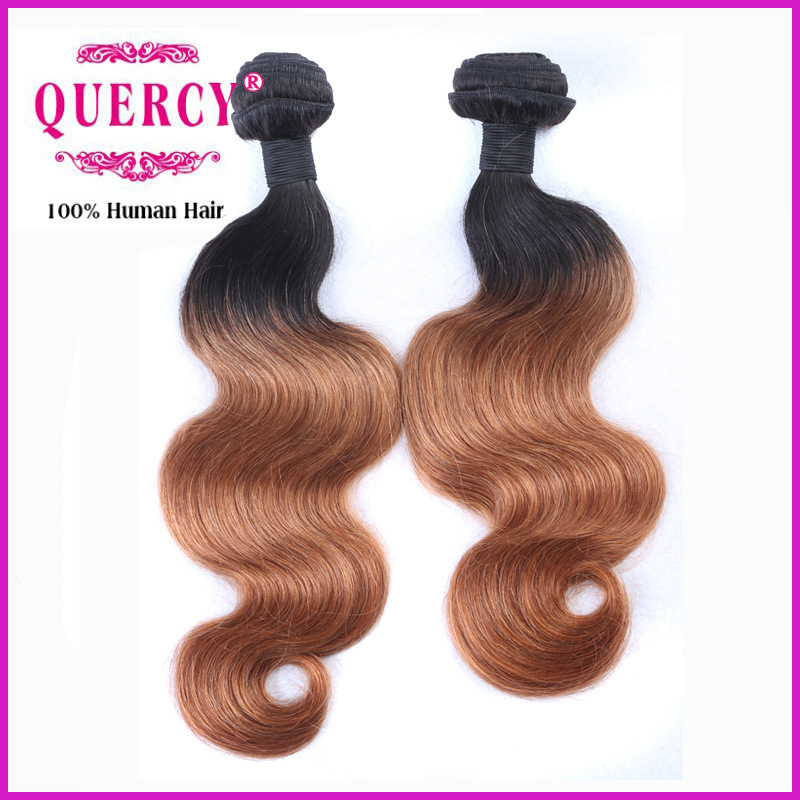 100 Natural Human Hair Weave 100% Brazilian 2 Tone Ombre Hair Weaving Body Wave Omber Hair Bundle