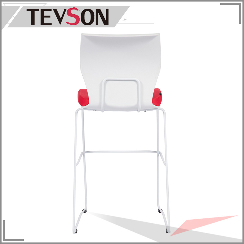 Unique and Modern Plastic Back Long Legs Bar Chair Bar Stool