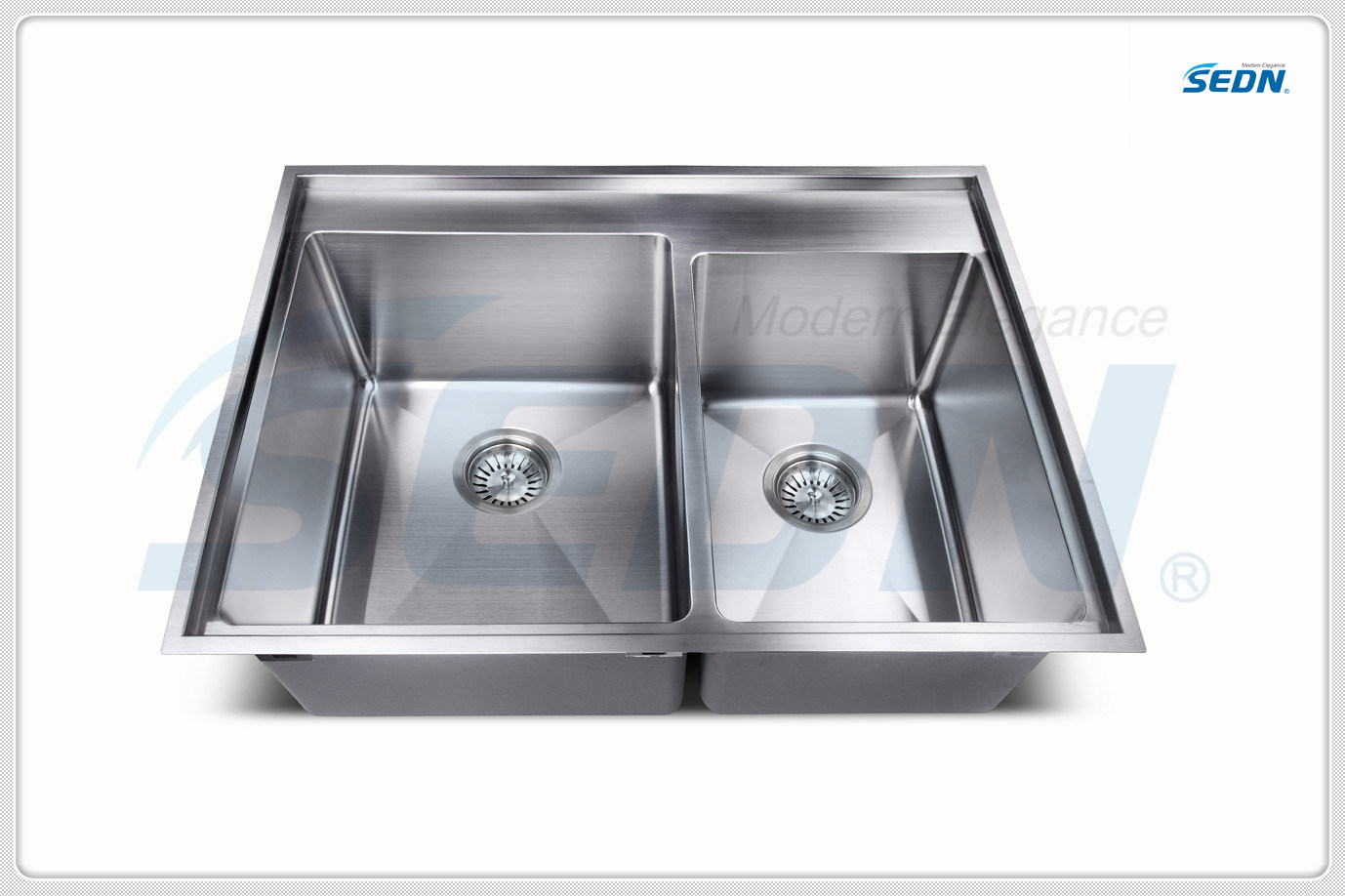 Handmade Double Bowl Stainless Steel Sinks (SC2007)