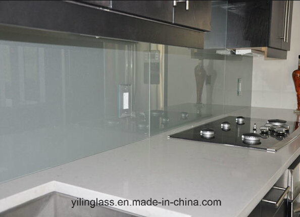 Tempered Color Fritted Glass Splashback