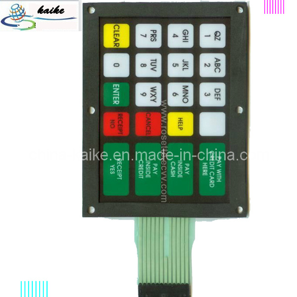 Metal Dome Switch, 3m Adhesive Membrane Switch Keypad