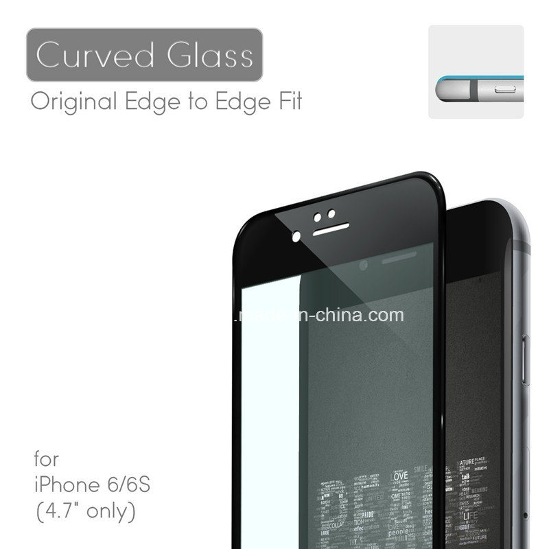 3D Curved Edge Design Cold Mould Tempered Glass Screen Protector for iPhone6s