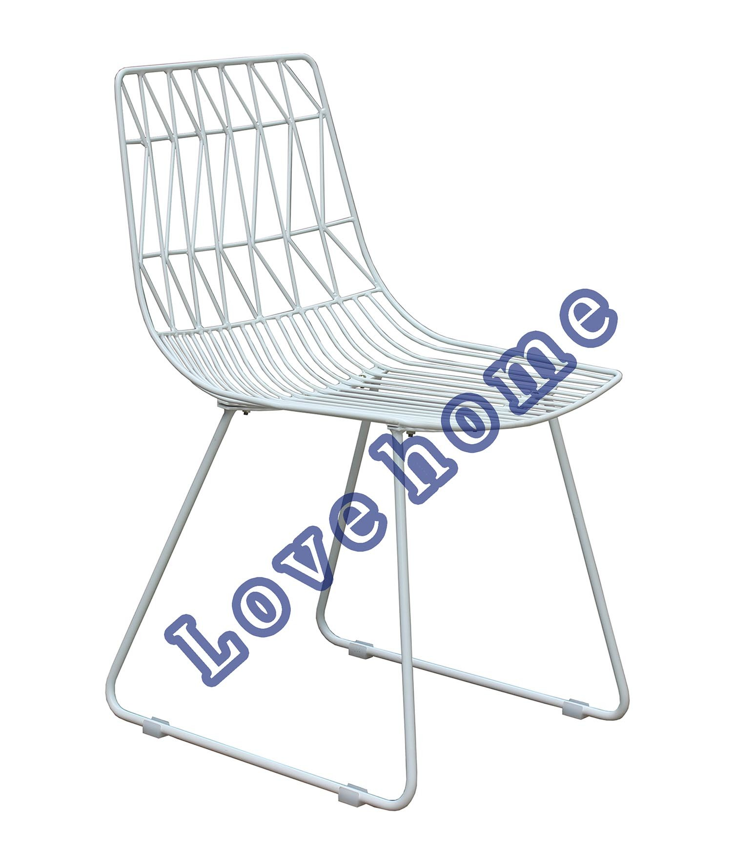 China Modern Classic Restaurant Metal Dining Bend Side Wire Chair