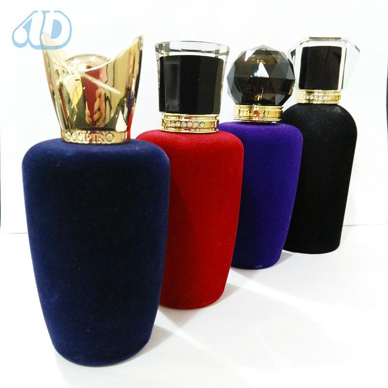 Ad-P266 Glass Perfume Velveting Bottle Acrylic Lid