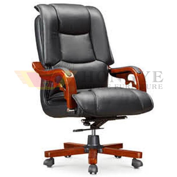 Wooden Armrest Adjustable Medium Executive Chair (HY-NNH-B2)