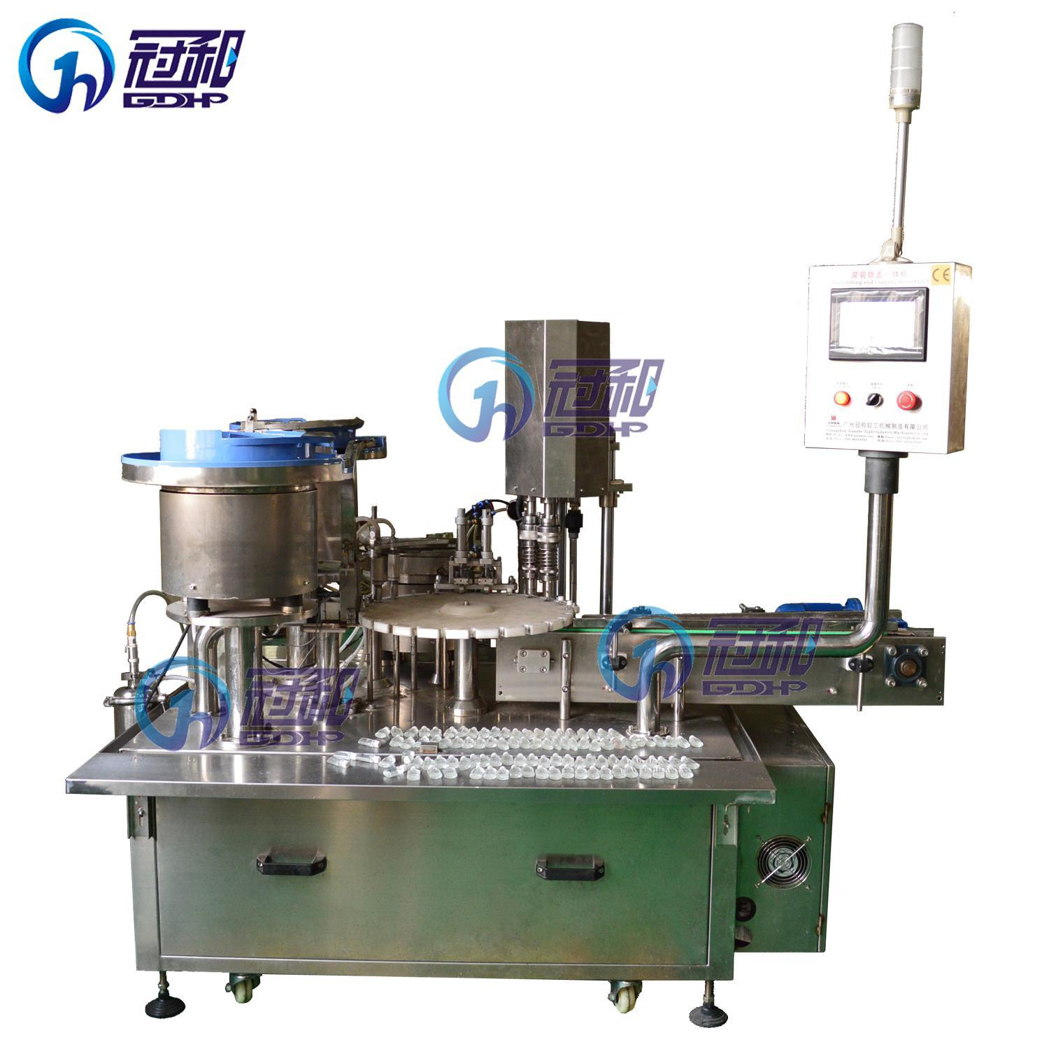 Automatic Liquid Machine with Bottle Filling Capping Labeling Packaging