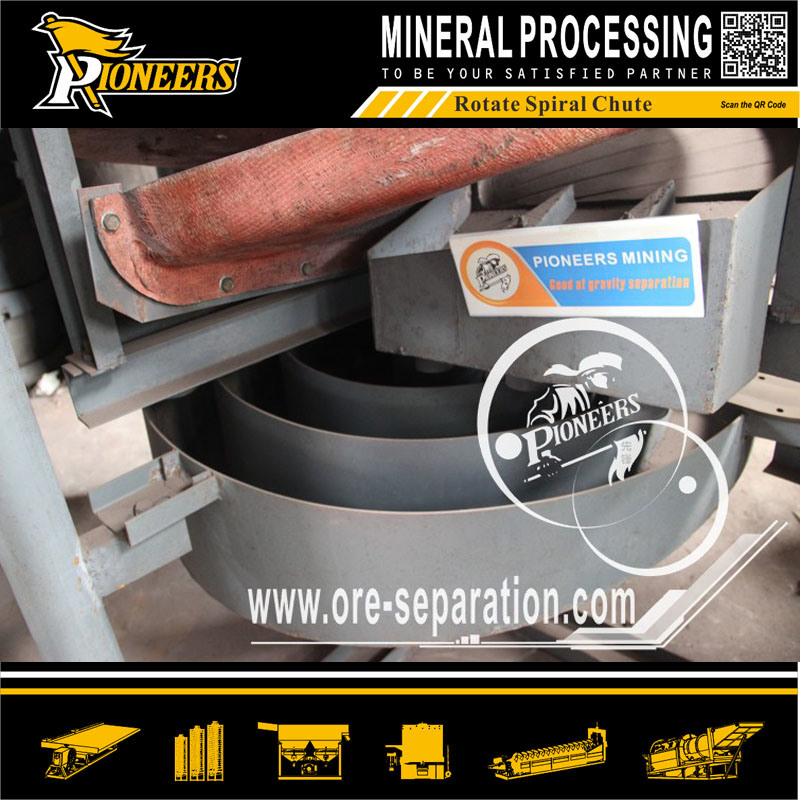 Chrome Mining Benefication Equipment Spiral Separator for Ore Beneficiation Process