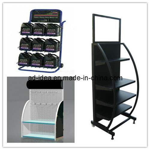 China Metal Display Rack Engine Oil Display Shelf