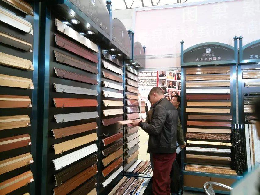Wood Grain Decorative PVC Plastic Flooring Wall Skirting Board