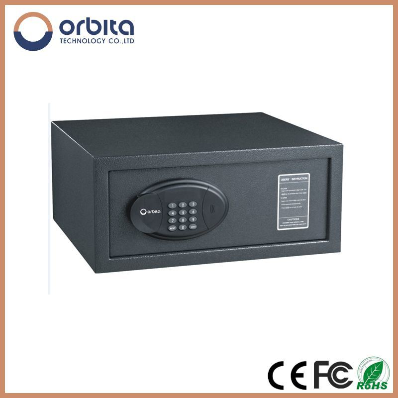 Electronic Biometric Stainless Steel Hotel Safe, Pure Steel Deposit Safe Box